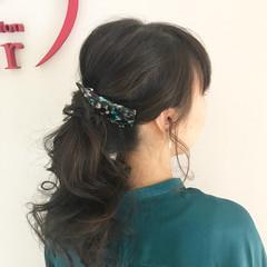 アンニュイ デート バレンタイン セミロング ヘアスタイルや髪型の写真・画像