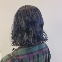 ダブルカラー ナチュラル ブルーアッシュ 可愛い ヘアスタイルや髪型の写真・画像
