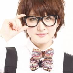 ショート ストリート ガーリー 丸顔 ヘアスタイルや髪型の写真・画像