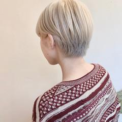 ナチュラル ブリーチカラー ブリーチ必須 ベリーショート ヘアスタイルや髪型の写真・画像