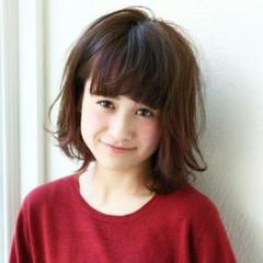 大人かわいい 簡単 外ハネ ボブ ヘアスタイルや髪型の写真・画像