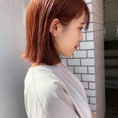 オレンジ ミニボブ ボブ ベリーショート ヘアスタイルや髪型の写真・画像