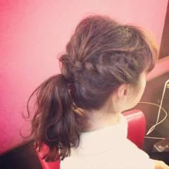 ウェーブ アップスタイル ストリート 編み込み ヘアスタイルや髪型の写真・画像
