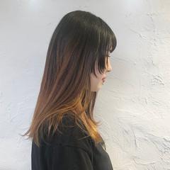 モード ロング ウルフカット レイヤーカット ヘアスタイルや髪型の写真・画像