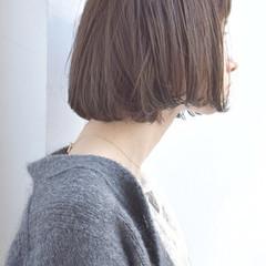大人かわいい オフィス ハイライト ストレート ヘアスタイルや髪型の写真・画像