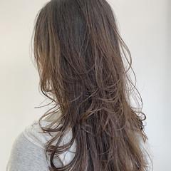 似合わせカット 大人かわいい レイヤーロングヘア 簡単ヘアアレンジ ヘアスタイルや髪型の写真・画像