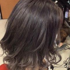 ミディアム 外国人風カラー グレージュ ガーリー ヘアスタイルや髪型の写真・画像