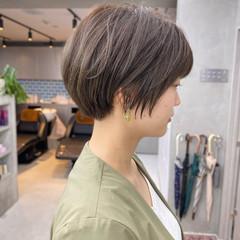 ショートボブ ショート インナーカラー ショートヘア ヘアスタイルや髪型の写真・画像