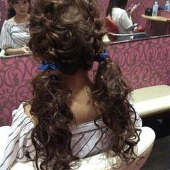 ロング 編み込み 上品 エレガント ヘアスタイルや髪型の写真・画像