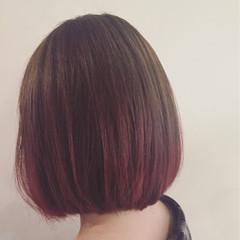グラデーションカラー ストリート ピンク パープル ヘアスタイルや髪型の写真・画像