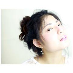 ピュア セミロング ワイドバング ナチュラル ヘアスタイルや髪型の写真・画像