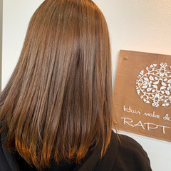 ベージュ ブラウンベージュ ミディアム ミルクティーベージュ ヘアスタイルや髪型の写真・画像
