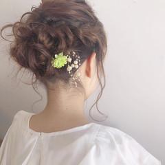 スポーツ ヘアアレンジ 結婚式 フェミニン ヘアスタイルや髪型の写真・画像