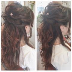 簡単ヘアアレンジ フェミニン ヘアアレンジ 女子会 ヘアスタイルや髪型の写真・画像