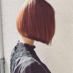 ハイライト 外国人風 ボブ 秋 ヘアスタイルや髪型の写真・画像