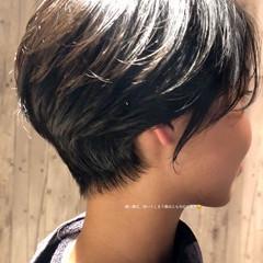 ショートボブ ショートヘア ショート ナチュラル ヘアスタイルや髪型の写真・画像