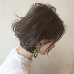 パーマ ボブ ナチュラル リラックス ヘアスタイルや髪型の写真・画像