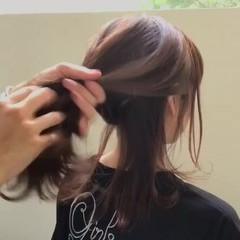 アウトドア オフィス リラックス ニュアンス ヘアスタイルや髪型の写真・画像