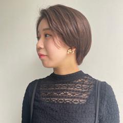 透明感カラー ハンサムショート アンニュイほつれヘア フェミニン ヘアスタイルや髪型の写真・画像