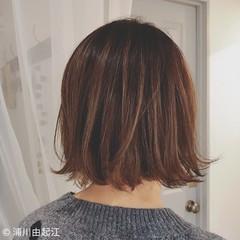 デート フェミニン ボブ ゆるふわ ヘアスタイルや髪型の写真・画像