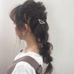 ロング ヘアアレンジ 結婚式 ヘアセット ヘアスタイルや髪型の写真・画像