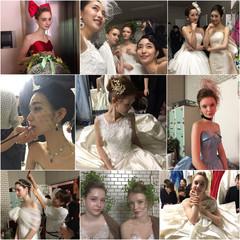 ブライダル 花嫁 ヘアアレンジ フェミニン ヘアスタイルや髪型の写真・画像