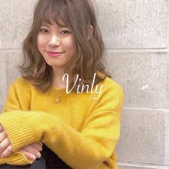 セミロング 簡単ヘアアレンジ デート オフィス ヘアスタイルや髪型の写真・画像