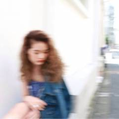 ウェーブ モード セミロング ストリート ヘアスタイルや髪型の写真・画像