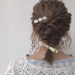 フェミニン ヘアセット 二次会ヘア デート ヘアスタイルや髪型の写真・画像