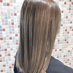モード セミロング 大人可愛い 外国人風カラー ヘアスタイルや髪型の写真・画像