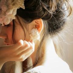 ヘアアレンジ 外国人風 結婚式 ゆるふわ ヘアスタイルや髪型の写真・画像