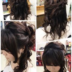 デート ヘアアレンジ ハーフアップ 女子会 ヘアスタイルや髪型の写真・画像