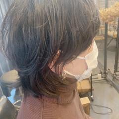 ナチュラル ボブ ウルフカット ヘアスタイルや髪型の写真・画像