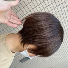 ナチュラル 丸みショート ショート ハンサムショート ヘアスタイルや髪型の写真・画像