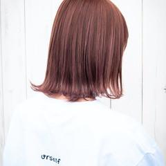 ハイライト ラベンダーピンク ピンクベージュ ストリート ヘアスタイルや髪型の写真・画像