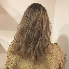 外国人風 セミロング ハイライト 透明感 ヘアスタイルや髪型の写真・画像