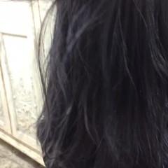 ネイビーアッシュ ネイビー アッシュ グレーアッシュ ヘアスタイルや髪型の写真・画像