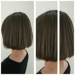 暗髪 ストレート ボブ モード ヘアスタイルや髪型の写真・画像