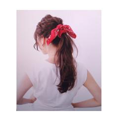 セミロング ヘアアレンジ ショート アッシュ ヘアスタイルや髪型の写真・画像