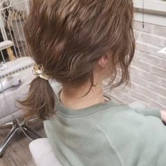 ナチュラル ショート ボブ 簡単ヘアアレンジ ヘアスタイルや髪型の写真・画像