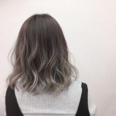 モード 外国人風 ミディアム グラデーションカラー ヘアスタイルや髪型の写真・画像