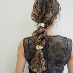 結婚式ヘアアレンジ ヘアセット ロング ブリーチカラー ヘアスタイルや髪型の写真・画像