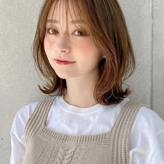 ミディアムレイヤー モテボブ ナチュラル モテ髪 ヘアスタイルや髪型の写真・画像
