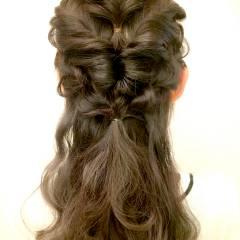 編み込み ヘアアレンジ 秋 ヘアスタイルや髪型の写真・画像