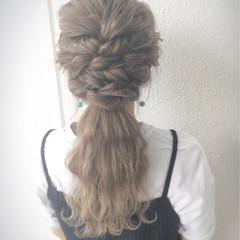ポニーテール 外国人風 ヘアアレンジ ロング ヘアスタイルや髪型の写真・画像