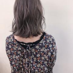 デート 大人かわいい ロブ ナチュラル ヘアスタイルや髪型の写真・画像