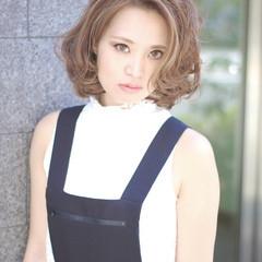 ミディアム 外国人風 大人かわいい アッシュ ヘアスタイルや髪型の写真・画像