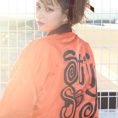 ショート 前髪あり ピュア 簡単ヘアアレンジ ヘアスタイルや髪型の写真・画像