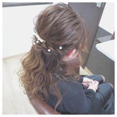 ハーフアップ 愛され ロング モテ髪 ヘアスタイルや髪型の写真・画像