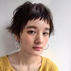 女子会 ショート ナチュラル 簡単ヘアアレンジ ヘアスタイルや髪型の写真・画像